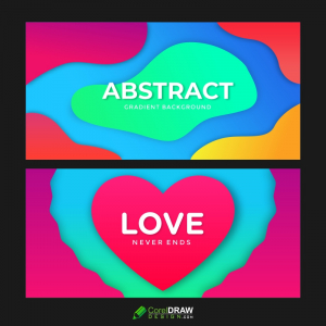 Horizontal Rectangle Flyers 3D Abstract Background Paper Cut Shapes Vector Design Layout Banners