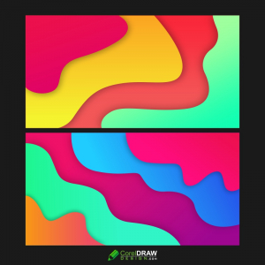 3D Colorful Modern Trendy Abstract Wavy Background, Free Vector