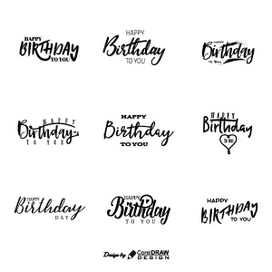 Happy Birthday To You Sticker Trending 2021 EPS And AI Download Free Template Vector