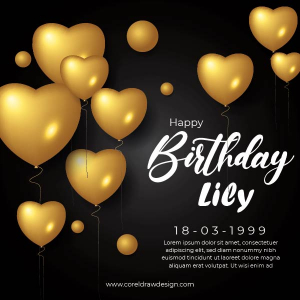 Birthday Wishing Golden Template EPS Trending 2021 Free Download Vector File Coreldrawdesign