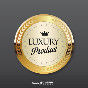 Luxury Product Golden Badge Free Vector AI EPS Download Trending 2021 Free