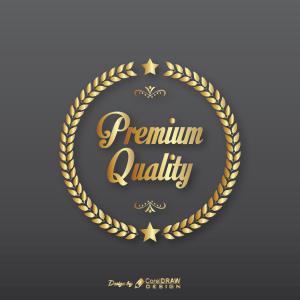 Premium Quality Golden Badge Free Vector AI EPS Download Trending 2021 Free