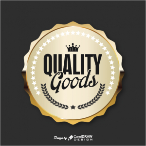 Quality Goods Golden Badge Free Vector AI EPS Download Trending 2021 Free
