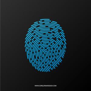 Elegant Fingerprint Scanner Icon