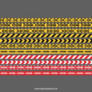Hazardous Danger Warning Tapes Vector