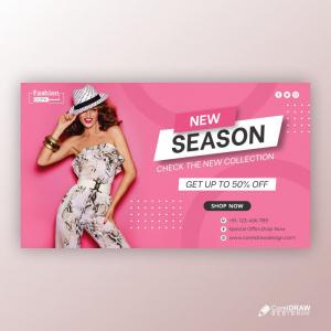 New Season Banner Free Vector Design