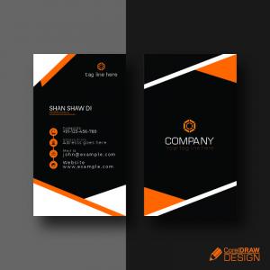 Orange Elegant Corporate Card Free Vector Design