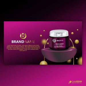 Cosmetic Skin Care Ad Free Vector Design