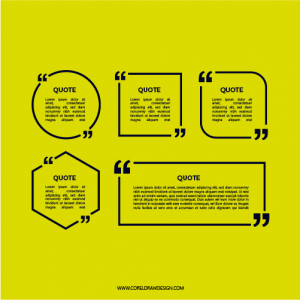 Abstract Quotation Box For Quotes