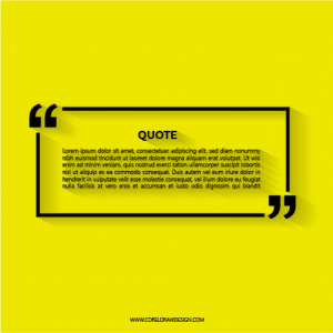 Abstract Quotation Text Bubble Box