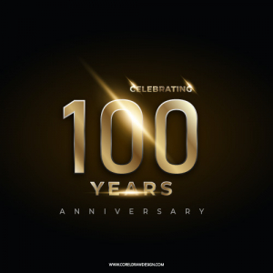 Celebrating 100th Year Anniversary Lettering Template