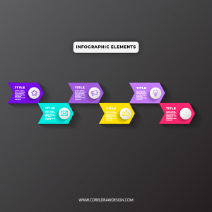Abstract Infograhic Bullet Elements
