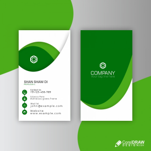 Corporate Card Template Free Vector