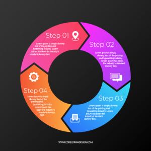 Circular Infographics Steps Free Vector