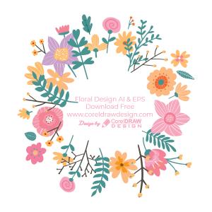 Floral Design Circular Trending 2021 Free AI & EPS Vector File Download