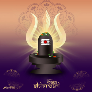 Divine Maha Shivratri Festival Shivling Free Vector