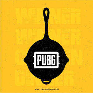 Pubg Official Pan Grunge Free Vector