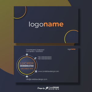 Elegant Abstract Creative Business Card Trending 2021 CDR & EPS Vector File Download
