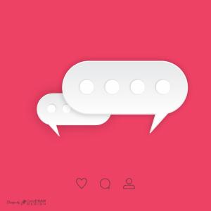 Text Messaging Vector Trending Post 2021 Download Free Template CDR & EPS