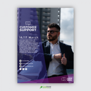 Customer Support Information Flyer Poster Template
