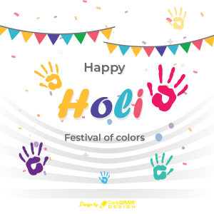 Happy Holi Festival Of Colors AI & EPS File Trending Vector Art 2021 Free Download