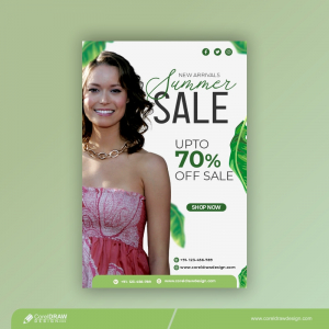 Summer Big Sale Banner Up To 70 Discount Free