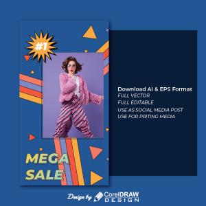 Comic Mega Sale Portrait Discount Trending 2021 Ai & Eps Download Free Vector