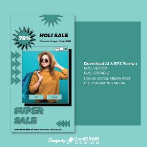 Comic Mega Sale 78 Percent Portrait Discount Trending 2021 Ai & Eps Download Free Vector
