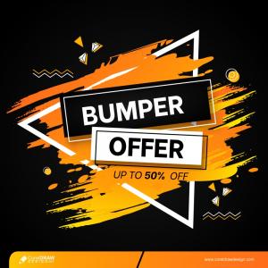 Modern Bumper Sale Banner Background Free Vector