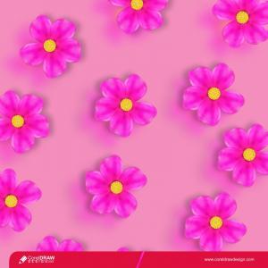 Pink Gradient Sakura Flowers Background Free Vector