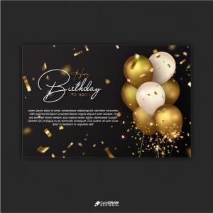 Luxurious Happy Birthday Celebration Wishes Card