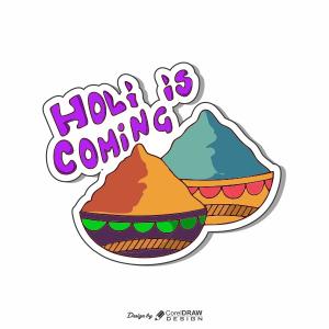Holi Is Coming Scrapbook Clipart Trending 2021 Coreldrawdesign CDR & EPS Download Free