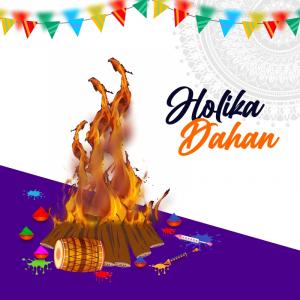 Holika Dahan Trending Celebration Poster Free Premium Vector