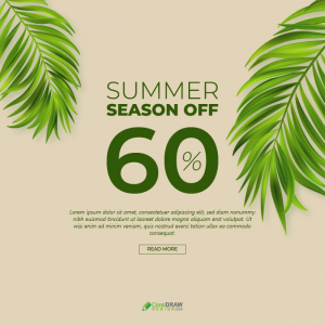 Abstract Summer Sale Banner Template