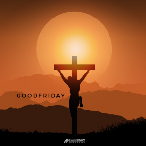 Happy Good Friday Jesus Lettering Card