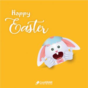 Happy Easter Egg Broken Happy Vector