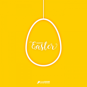 Abstract Easter Egg Shadow Lettering Card