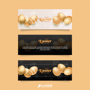 Happy Easter Day Banner Template