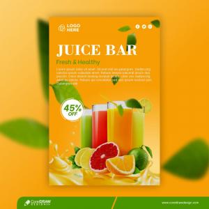 Fresh Orange Drink Template Premium Vactor