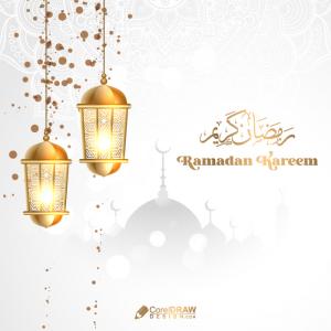 Luxury Ramadan Kareem Ornamental Lettering Card