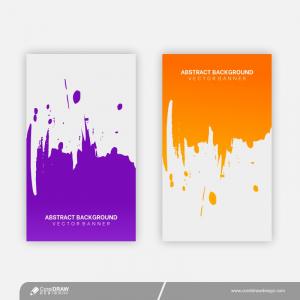 Colorful Splash Template Banners Free Vector