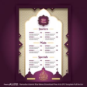 Ramadan Islamic Iftar Menu Download Free AI & EPS Template Full Vector Trending 2021