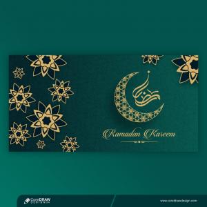 Creative Ramadan Banner Template Free Vector Design