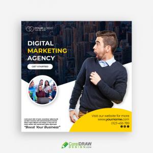 Social Media Digital Media Marketing Flyer Template