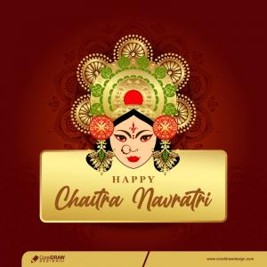 Creative Happy Navratri Banner Template Background