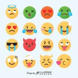 New Set Of Funny Emoji Trending 2021 Free Download AI & EPS From Coreldrawdesign