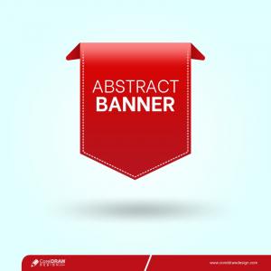 Red Banner Design On Transparent Background