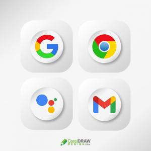 Creative 3d Google Chrome, Assistant , Gmail Logos