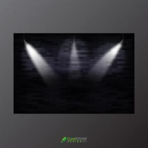 Luxury Abstract Black Lighting Showcase Vector