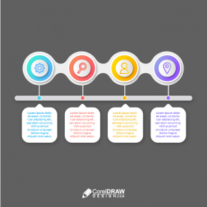 Corporate Professional Infographic Timeline Elements